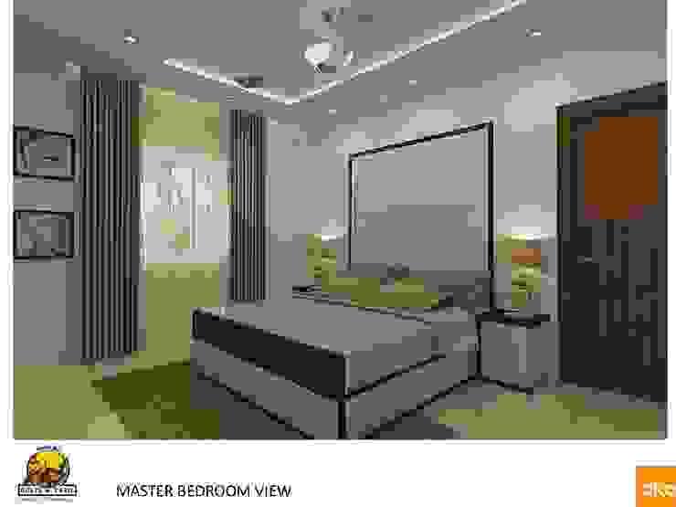 Kolte Patil Mirabillis apartment Modern style bedroom by Dutta Kannan architects Modern