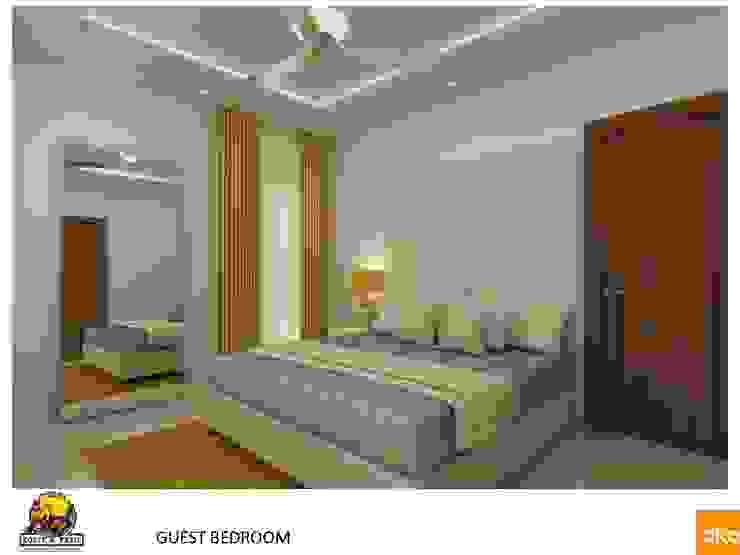 Projekty,  Sypialnia zaprojektowane przez Dutta Kannan architects , Nowoczesny