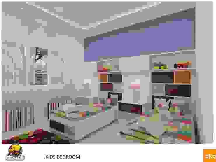 Kolte Patil Mirabillis apartment Modern nursery/kids room by Dutta Kannan architects Modern