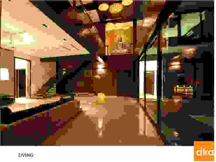 PMR Residence Modern living room by Dutta Kannan Partners Modern
