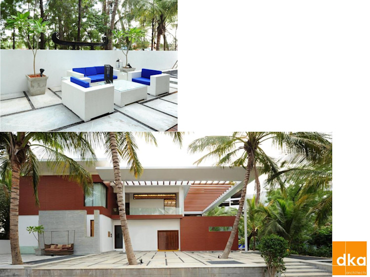 PMR Residence Modern balcony, veranda & terrace by Dutta Kannan Partners Modern