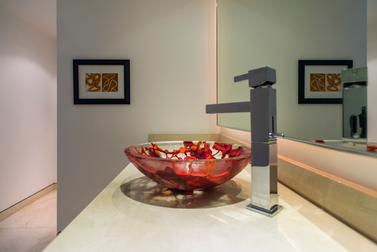Lavabo Jimmiz Brainz de Studio Orfeo Quagliata Moderno Vidrio