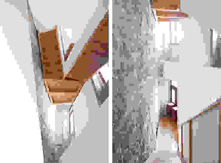 Estúdios São Victor – Reabilitação A2OFFICE Corredores, halls e escadas ecléticos