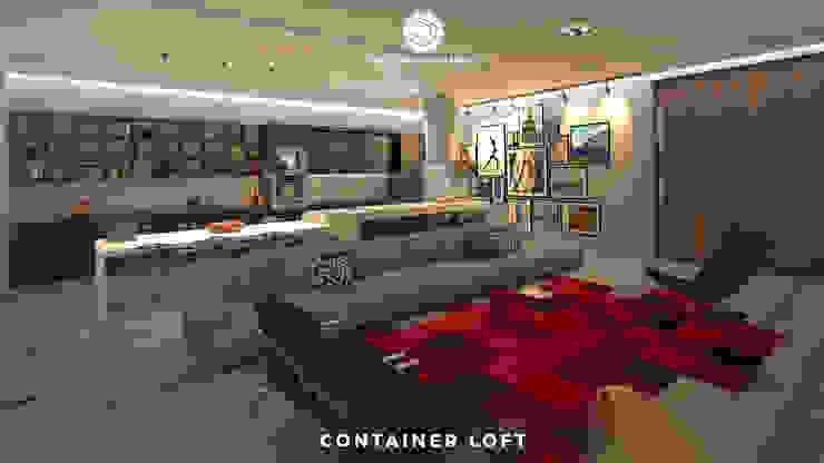 Container Loft Cozinhas industriais por Philippe Pinheiro Industrial MDF
