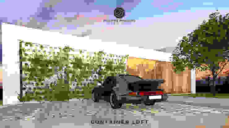 Container Loft Casas industriais por Philippe Pinheiro Industrial Madeira Efeito de madeira