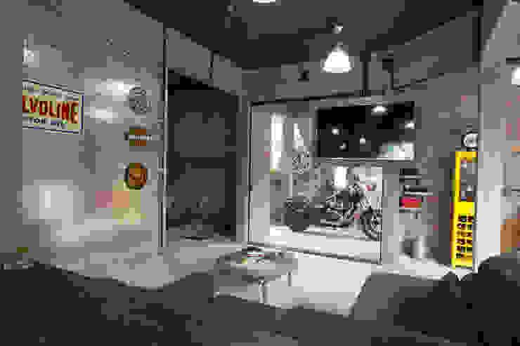 CASA VEREDAS DAS GERAES Salas de estar industriais por Mutabile Arquitetura Industrial