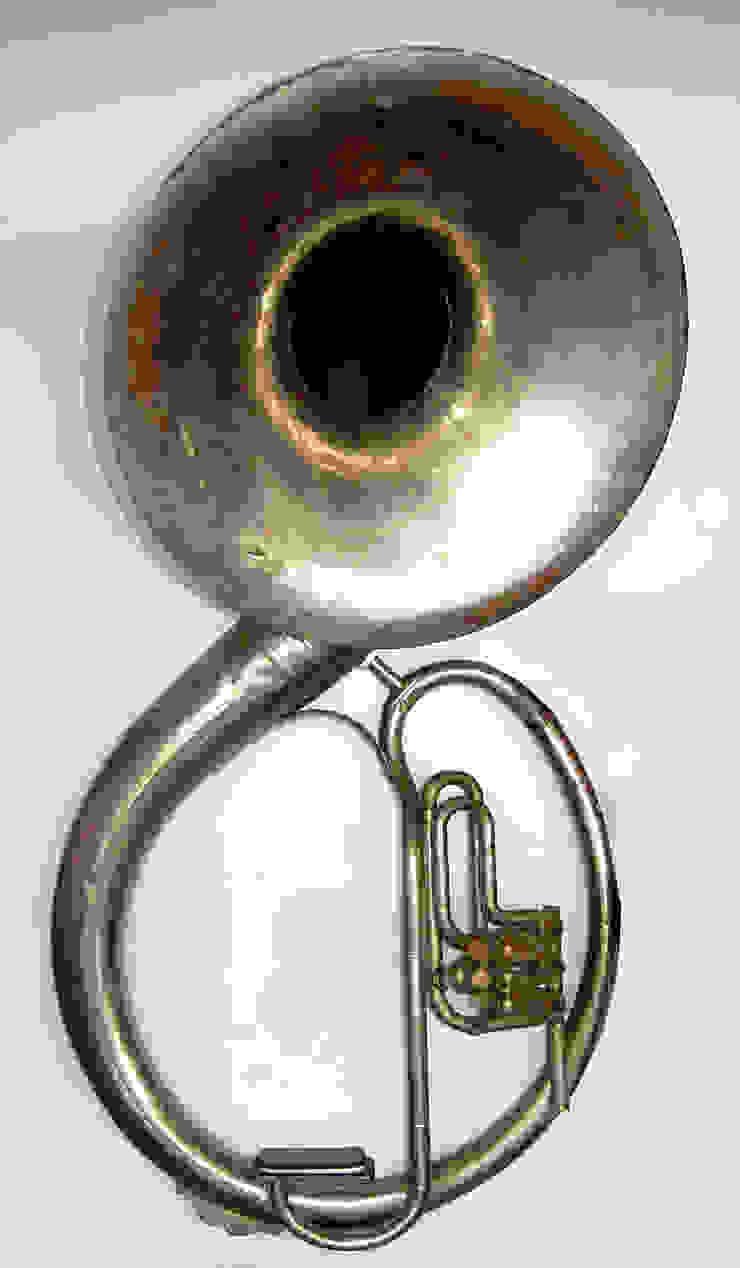 Amplificador Musical para Celular - Tuba Antiga / Parede por QueLindo - Arte Decorativa Eclético