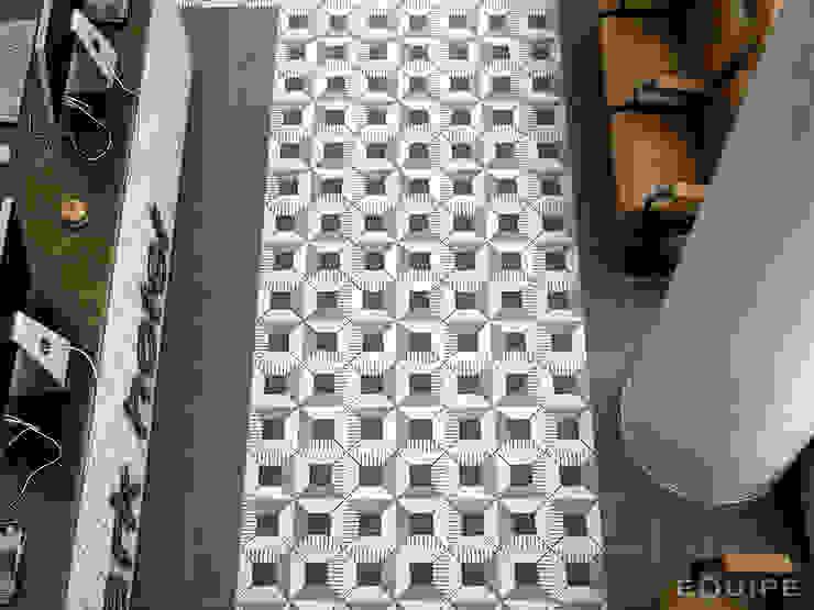 Caprice Black, DECO Block B&W 20x20 Pasillos, vestíbulos y escaleras de estilo ecléctico de Equipe Ceramicas Ecléctico