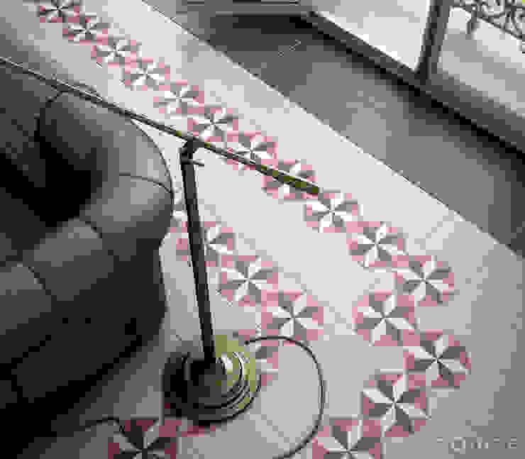 Caprice White, DECO Magic Colours 20x20 Salones de estilo clásico de Equipe Ceramicas Clásico