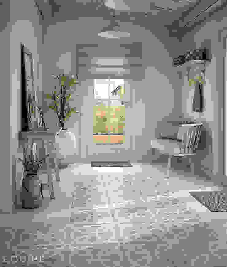 Caprice Cream, DECO Loop Pastel 20x20 Pasillos, vestíbulos y escaleras de estilo rural de Equipe Ceramicas Rural