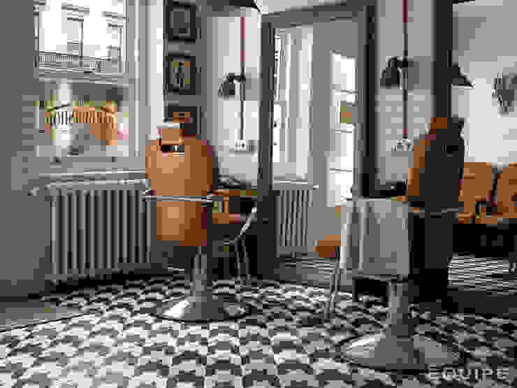 Caprice DECO Tweed B&W 20x20 Salones de estilo industrial de Equipe Ceramicas Industrial
