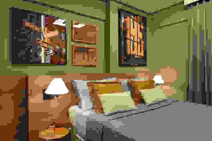Apartamento pequeno - 43m² Quartos modernos por Moreno e Brazileiro | Arquitetos Moderno