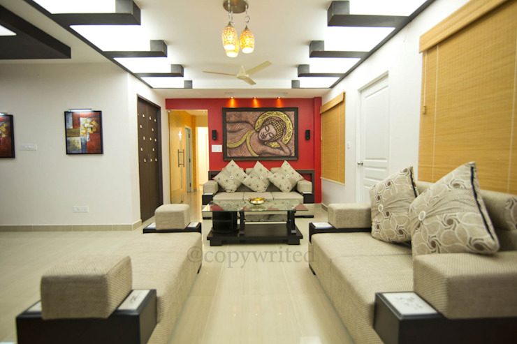 Mr.Viswanathan Client Modern living room by Creations Modern