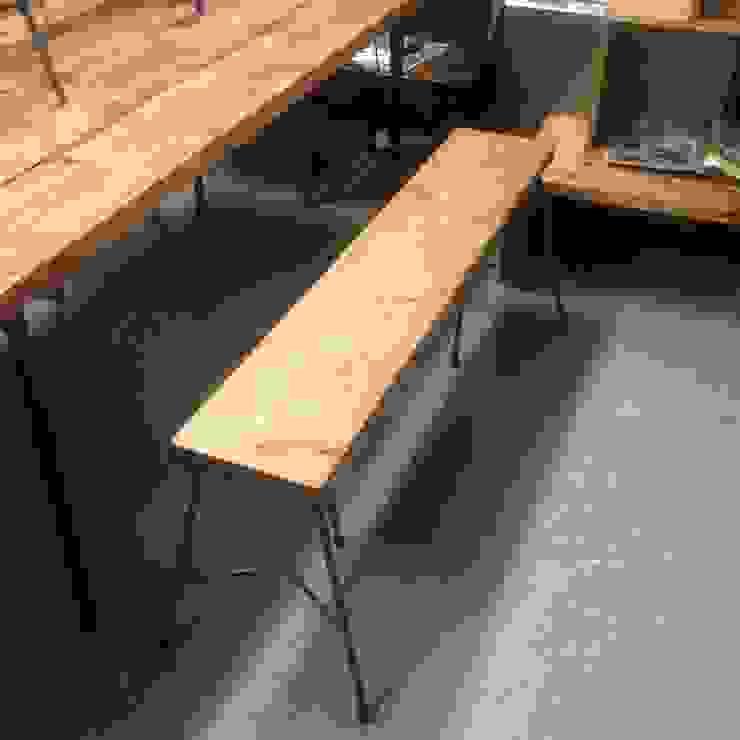 S50.original. Iron Frame Bench 121: GALLERY.S S:TAYAMA が手掛けた素朴なです。,ラスティック 無垢材 多色