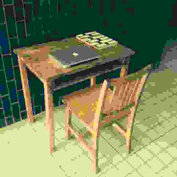 S50.original.Table&Desk with the shelf 80: GALLERY.S S:TAYAMA が手掛けた素朴なです。,ラスティック 無垢材 多色