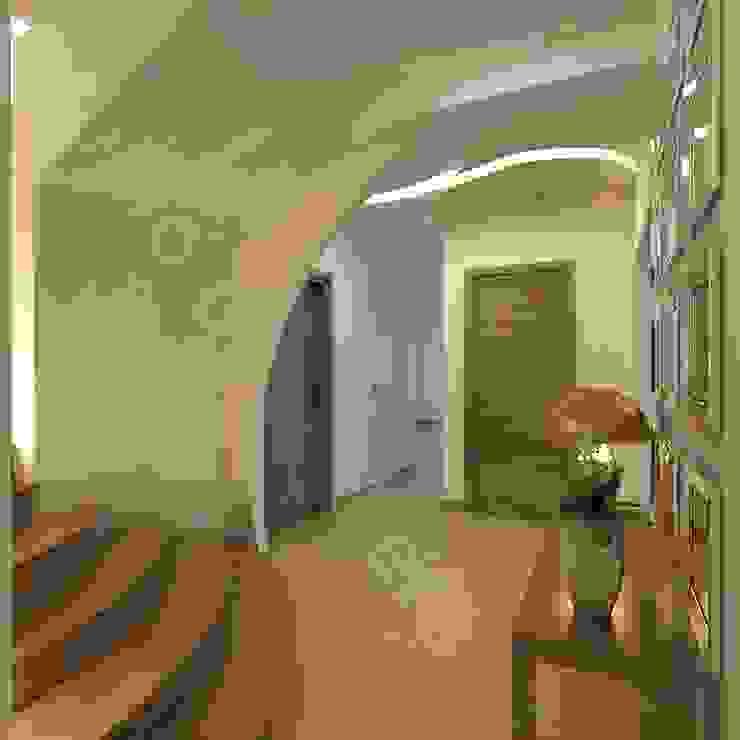 Projekt przedpokoju Nowoczesny korytarz, przedpokój i schody od Intellio designers Nowoczesny