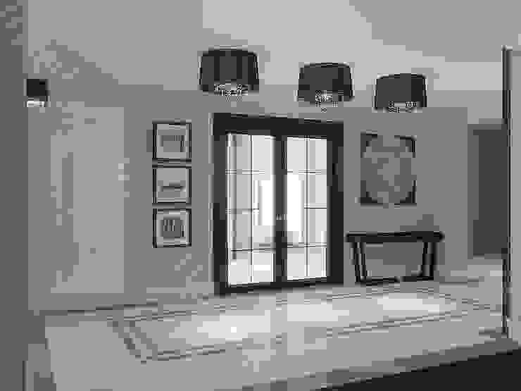 Stylowy przedpokój Nowoczesny korytarz, przedpokój i schody od Intellio designers Nowoczesny