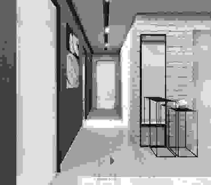 Mieszaknie 80m2 Nowoczesny korytarz, przedpokój i schody od Architekt wnętrz Klaudia Pniak Nowoczesny