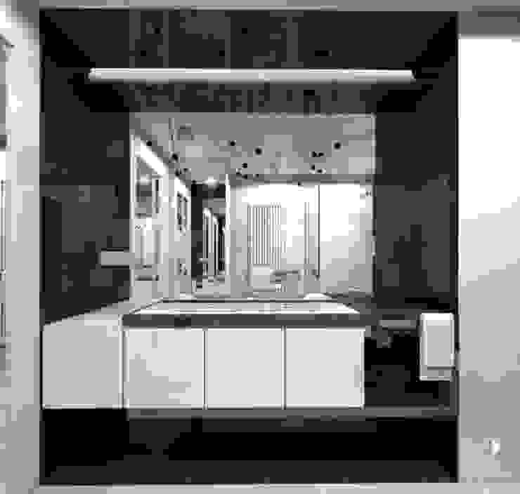 Mieszaknie 80m2 Nowoczesna łazienka od Architekt wnętrz Klaudia Pniak Nowoczesny