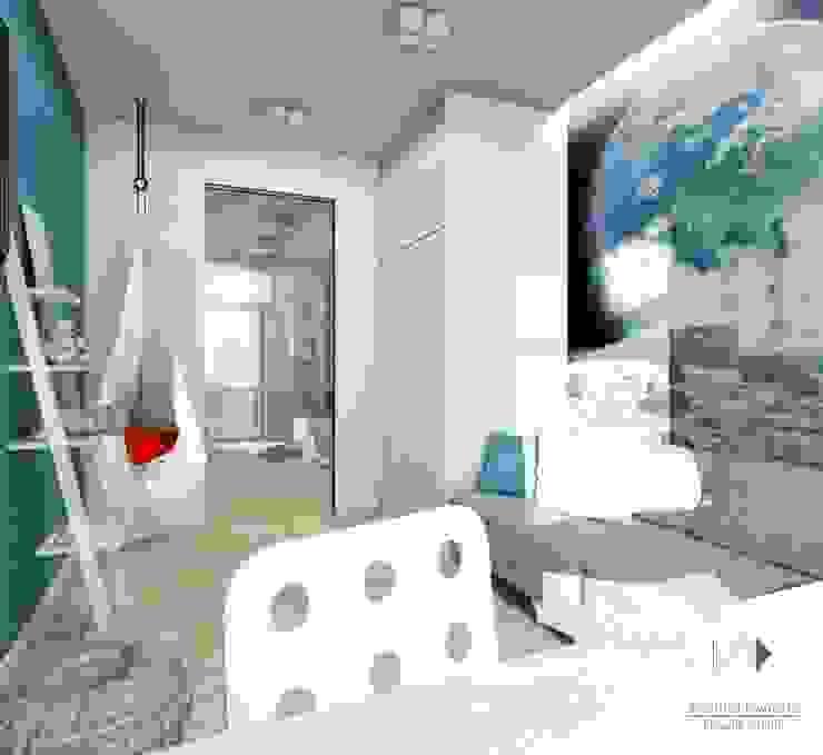 Mieszaknie 80m2 Nowoczesny pokój dziecięcy od Architekt wnętrz Klaudia Pniak Nowoczesny