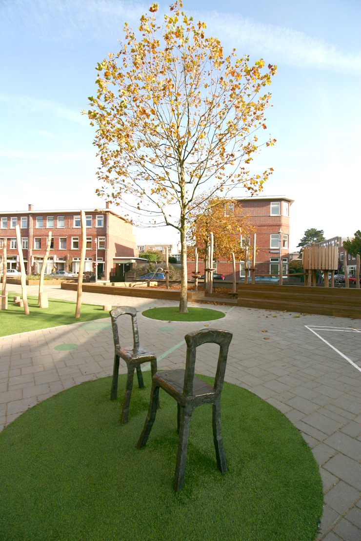 Groen Schoolplein Den Haag Moderne scholen van House of Green Modern