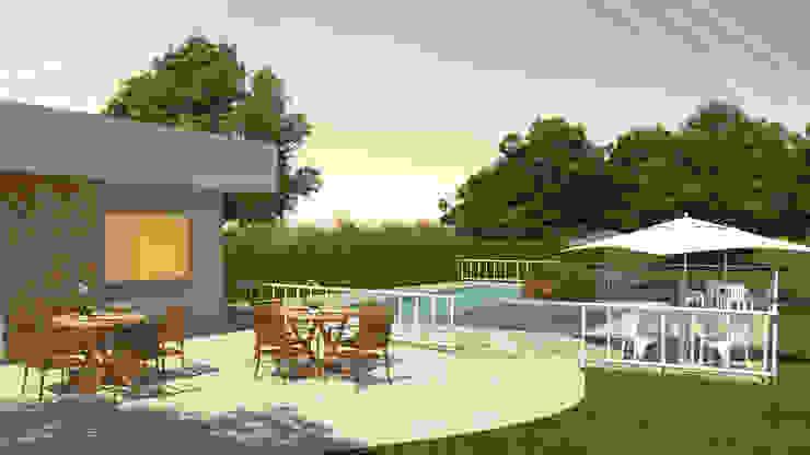 Área da piscina do condomínio. Piscinas ecléticas por Studio HG Arquitetura Eclético