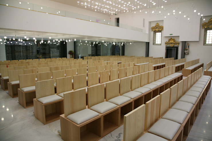 Remodelação e Ampliação Igreja de Gavião Locais de eventos minimalistas por sergiovazsousaarquiteto Minimalista