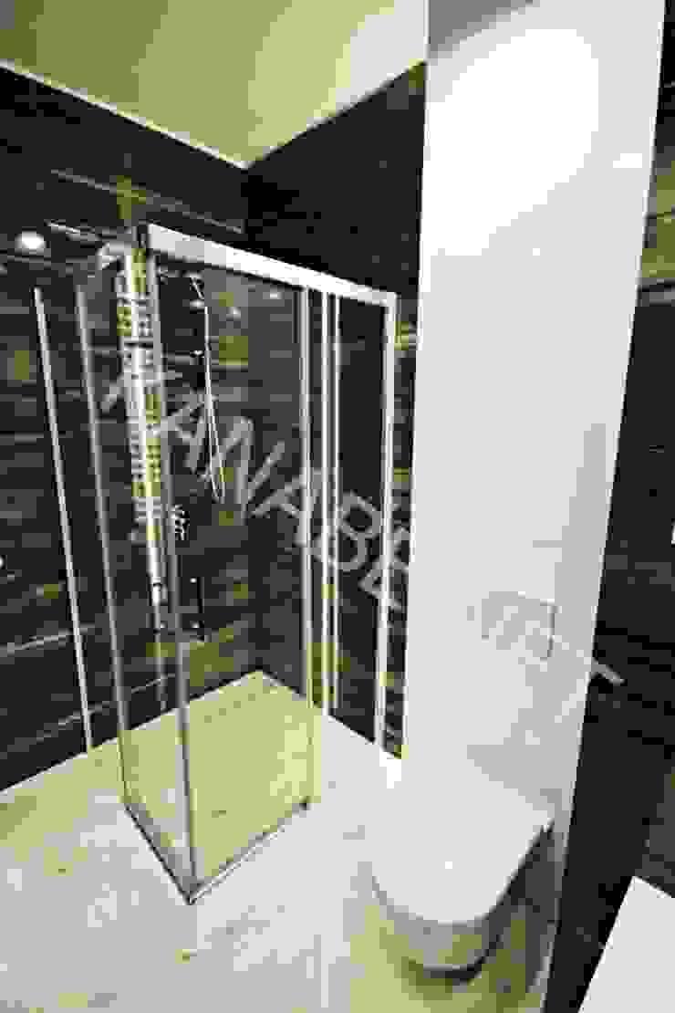 Apartament pokazowy dla dewelopera Nowoczesna łazienka od KANABE Nowoczesny