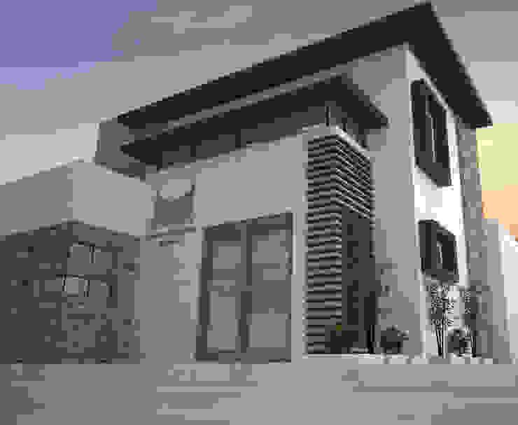 ACCESO Y DETALLES DE FACHADA Estudios y despachos minimalistas de Acrópolis Arquitectura Minimalista