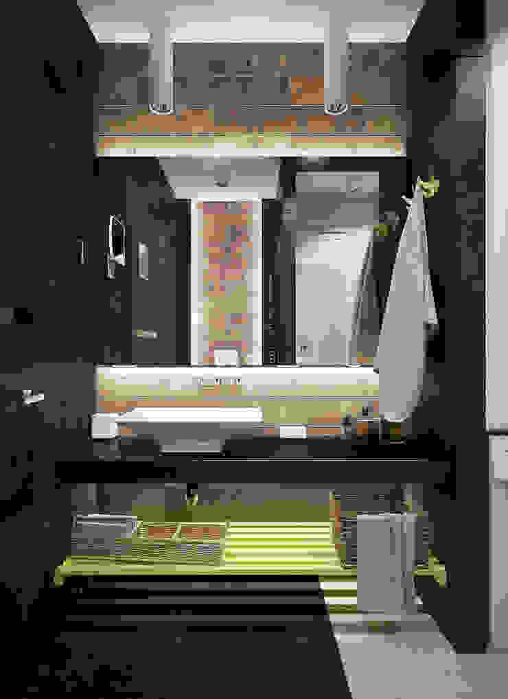однушечка Ванная комната в стиле модерн от Pavel Alekseev Модерн