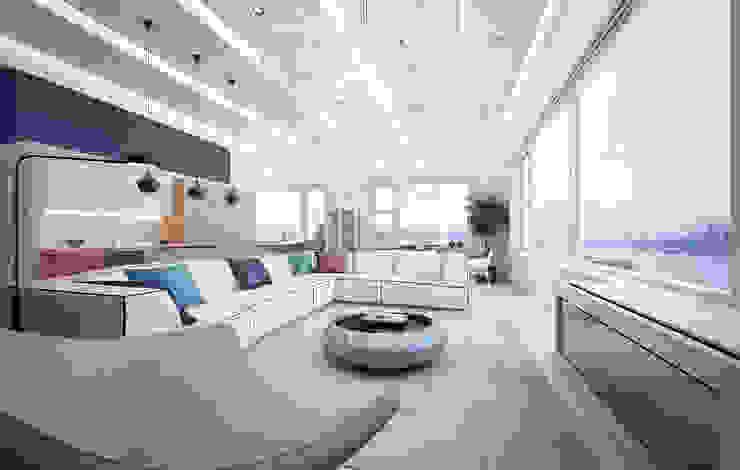 Hudson St. USA Minimalist living room by KAPRAN DESIGN (interior workshop) Minimalist Wood Wood effect