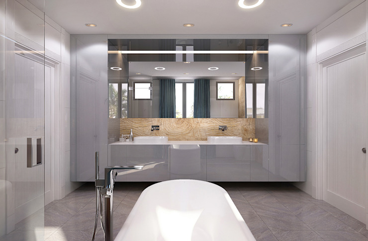 BATHROOMS Modern bathroom by KAPRAN DESIGN (interior workshop) Modern Tiles