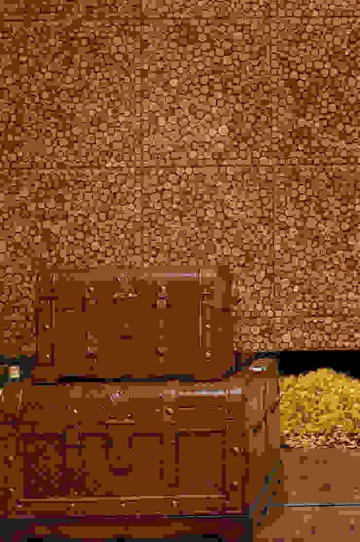 Hall de Entrada Corredores, halls e escadas rústicos por arquiteta aclaene de mello Rústico Madeira Efeito de madeira