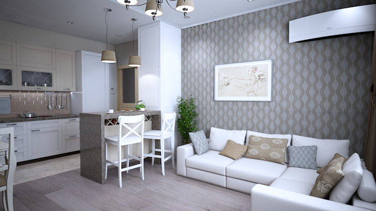 Дизайн-проект квартиры в г. Москве Столовая комната в классическом стиле от SmaginVladimir Классический