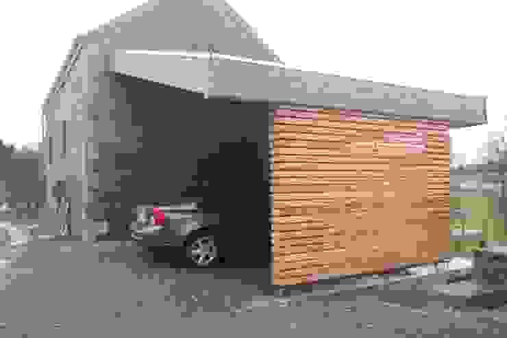Projet M-Or Modern garage/shed by Aj-architectes sprl Modern