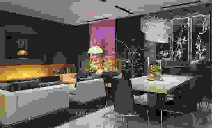 Апартаменты для большой семьи Гостиная в стиле минимализм от Архитектор-дизайнер Марина Мухтарова Минимализм