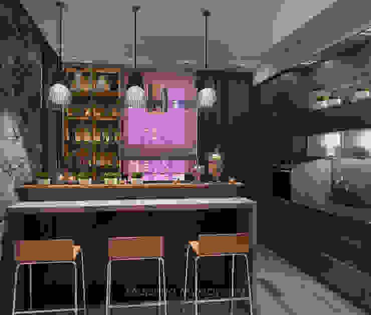Кухня Кухня в стиле минимализм от Архитектор-дизайнер Марина Мухтарова Минимализм Камень