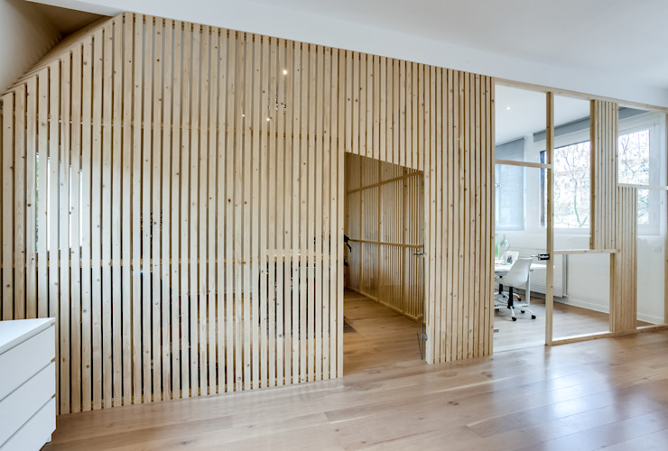 Transition Interior Design Modern office buildings Wood