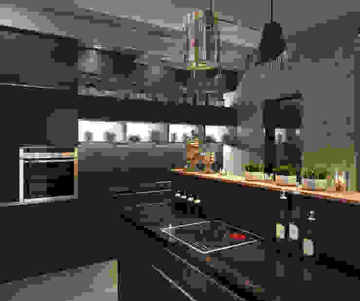 Кухня Кухня в стиле минимализм от Архитектор-дизайнер Марина Мухтарова Минимализм