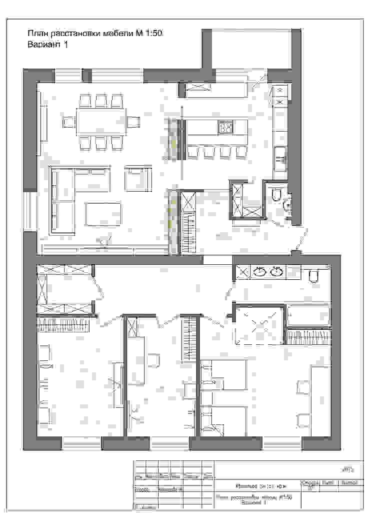Планировка согласованная Коридор, прихожая и лестница в стиле минимализм от Архитектор-дизайнер Марина Мухтарова Минимализм