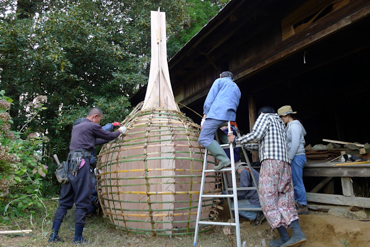 making base of bamboo オリジナルな 壁&床 の 建築設計事務所 山田屋 オリジナル 竹 緑