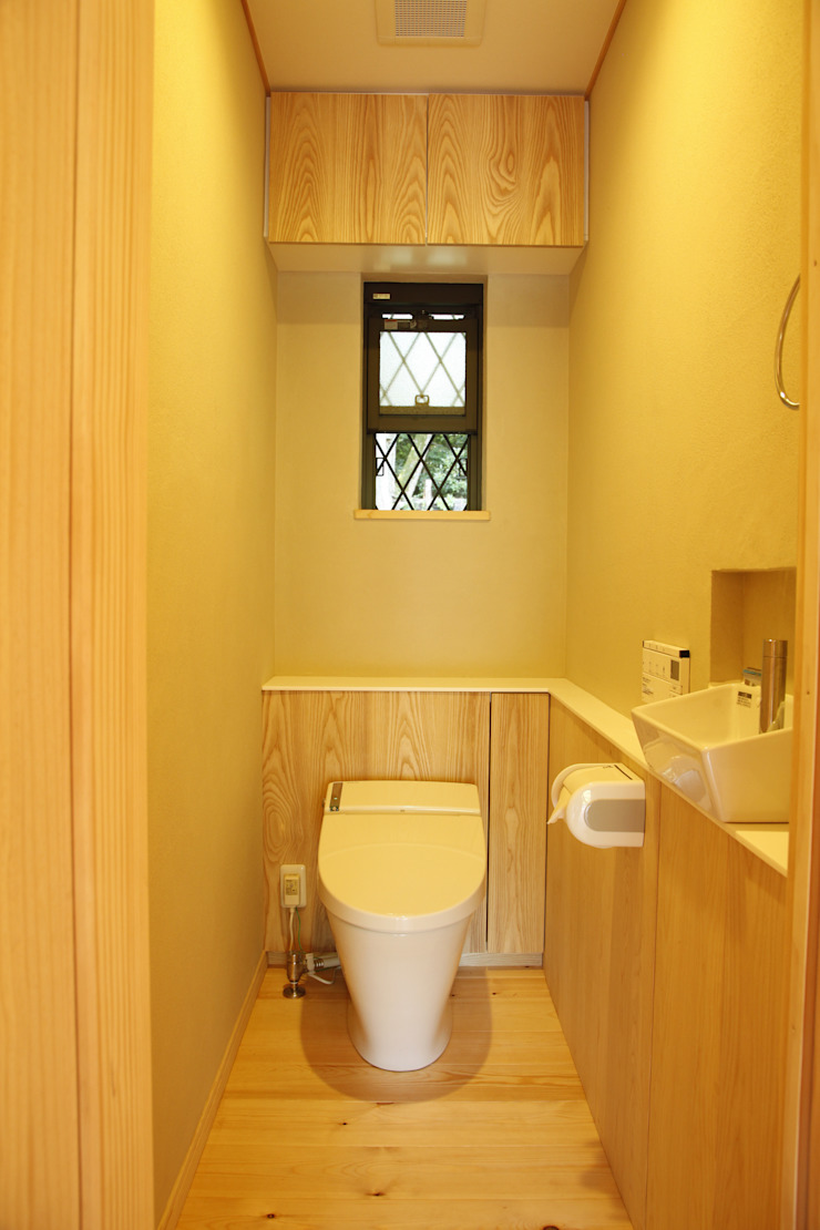 KI HOUSE モダンスタイルの お風呂 の 日菜設計室 HINA ARCHITECTS モダン