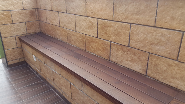 ash wood Classic style balcony, veranda & terrace by JRD Associates Classic Wood Wood effect