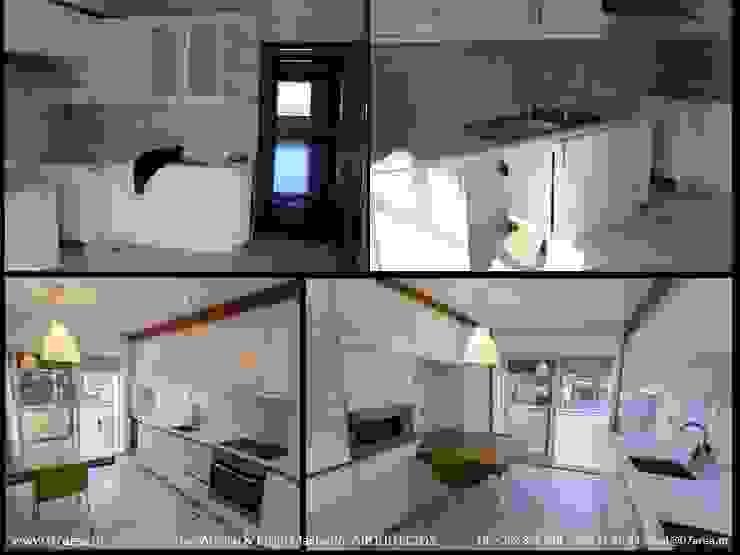 o antes e o depois... Cozinhas minimalistas por AreA7 Minimalista