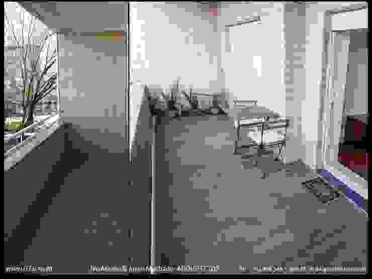 restauro de Apart. - Arqtos Ivo Amaro @ Jorge Machado Jardins de Inverno minimalistas por AreA7 Minimalista