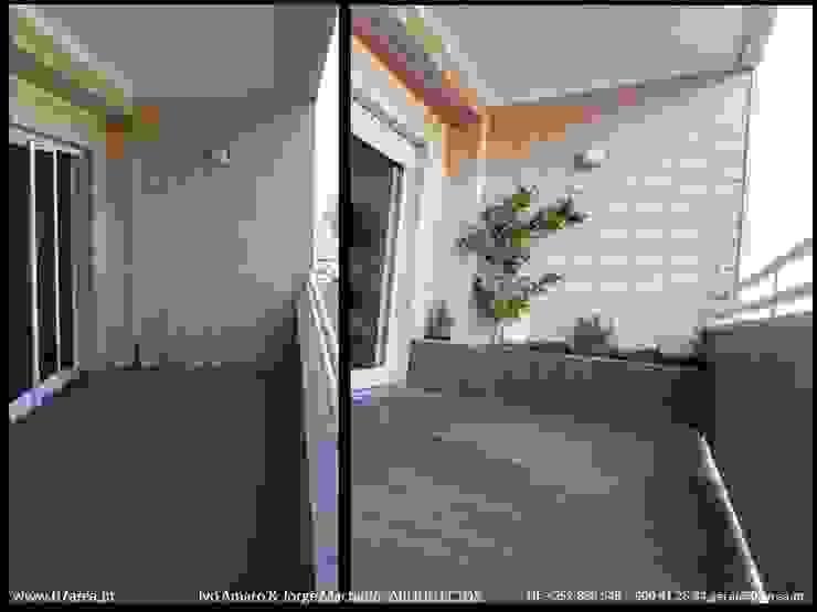 restauro de Apart. – Arqtos Ivo Amaro @ Jorge Machado Jardins de Inverno minimalistas por AreA7 Minimalista