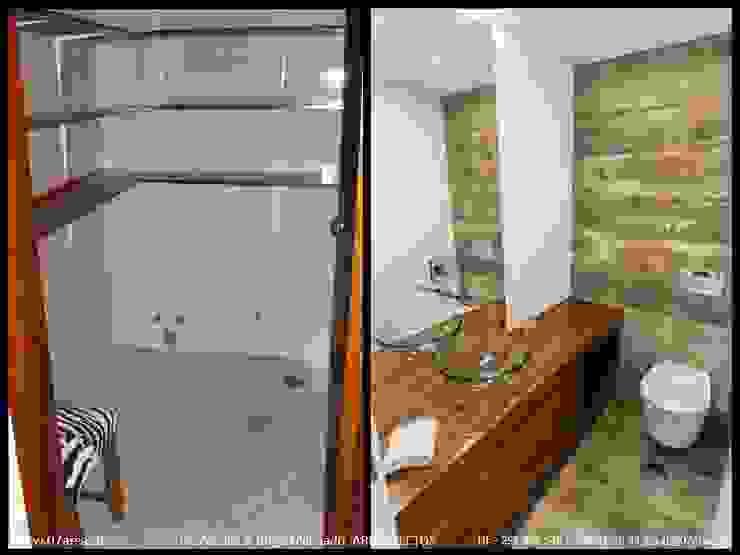 restauro de Apart. – Arqtos Ivo Amaro @ Jorge Machado Casas de banho minimalistas por AreA7 Minimalista