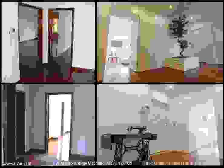 restauro de Apart. – Arqtos Ivo Amaro @ Jorge Machado Corredores, halls e escadas minimalistas por AreA7 Minimalista