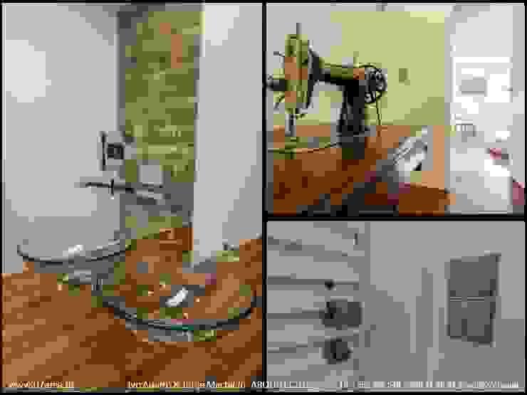 restauro de Apart. – Arqtos Ivo Amaro @ Jorge Machado Paredes e pisos minimalistas por AreA7 Minimalista
