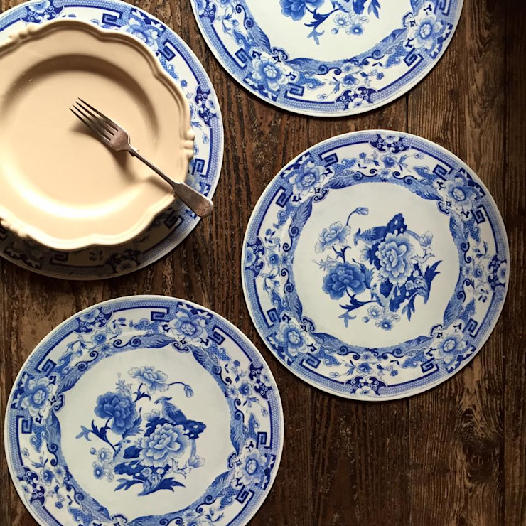 Placemat Blue Flower: M'amour(マムール)が手掛けたカントリーです。,カントリー